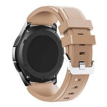 Equipo de S3 frontera banda para Samsung Galaxy ver 46mm 42mm correa de 22mm 20mm silicona reloj de pulsera de reloj Huawei GT Correa S3(China)