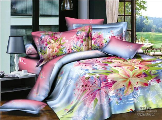 Blue Pink Purple Floral Bedding Set Queen S Sets Duvet Cover Bedsheet Quilt Bed Linen Sheet