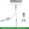 2 in 1 Charging Audio Adapter for iPhone 7 7 Plus for Lightning Female to 3