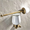 High grade Creative Wall Mounted Toilet Brush Holder Wall Mounted Brass Antique Bathroom Toilet Brush Rack