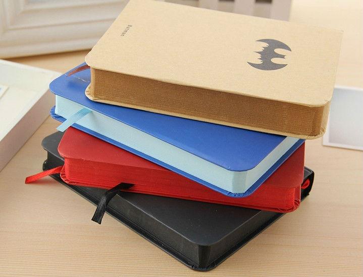 Free shipping 2014 Hot superman series hardcover notebook,superman,batman,iron man, captian of america for choose(China (Mainland))