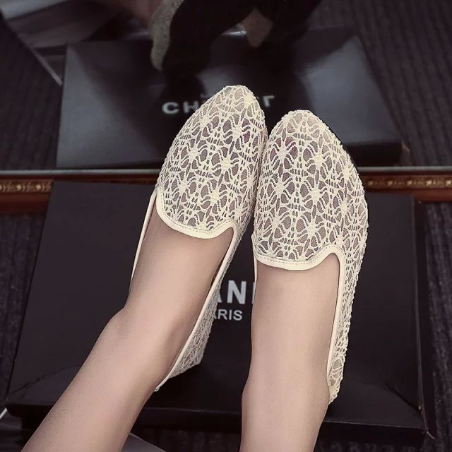 New Spring Summer 2016 Fashion Ladies Shoes Flat Breathable Shoes Women Joker Tide Mesh Shoes Woman Hollow Out Sexy Lace Shoes<br><br>Aliexpress