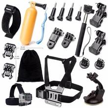 Gopro Go pro Xiaoyi accessorio para SJ4000 SJCAM Acción Deporte Cámara Float monopod Pecho Head mount correa Bolsa Grande 10