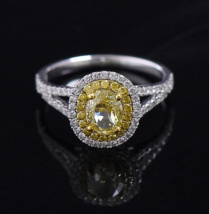 Luxury Victoria Wieck Engagement Princess cut 1 carat yellow CZ diamond ring Oval Fancy colored Wedding Band Ring Set(China (Mainland))
