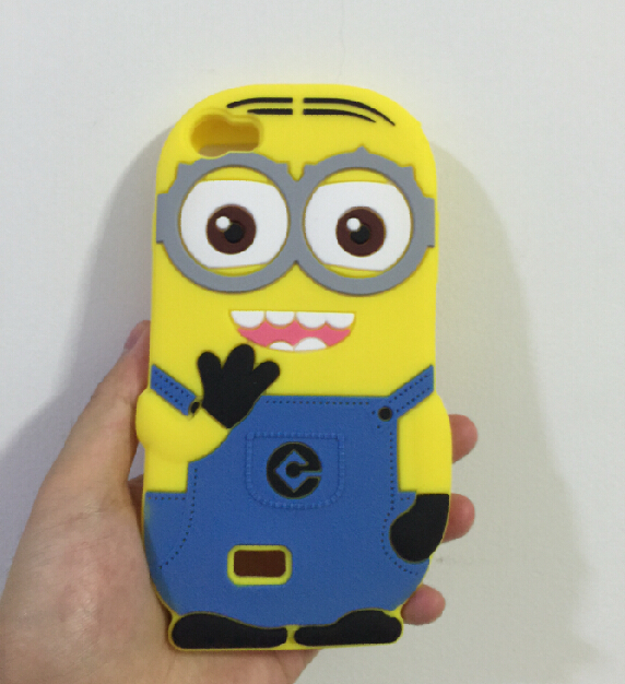 3D Despicable 2 Minions Soft Silicone Back Cover Case Wiko Lenny  -  ALEX ZHOU Store store