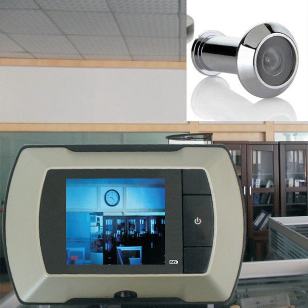 2015 high resolution 2 4 inch lcd visual monitor door for Door peephole camera