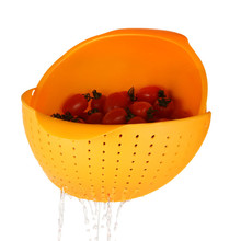 Fruit Vegetable Basket 3-In-1 Strainer Multi-Functional Wash Rice Fruit Vegetable Plastic Drain Basket Colander Strainer Sieve(China (Mainland))