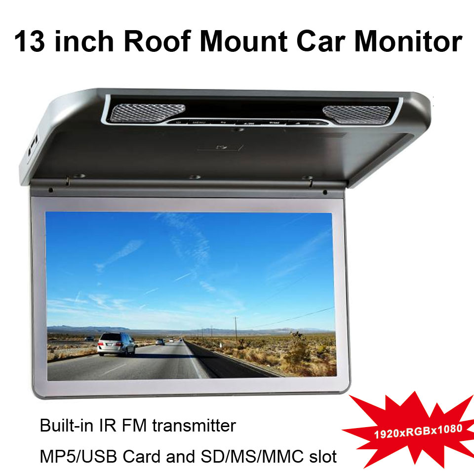 13 inch Roof Mount Car DVD Player with Built-in IR & FM Transmitter(China (Mainland))