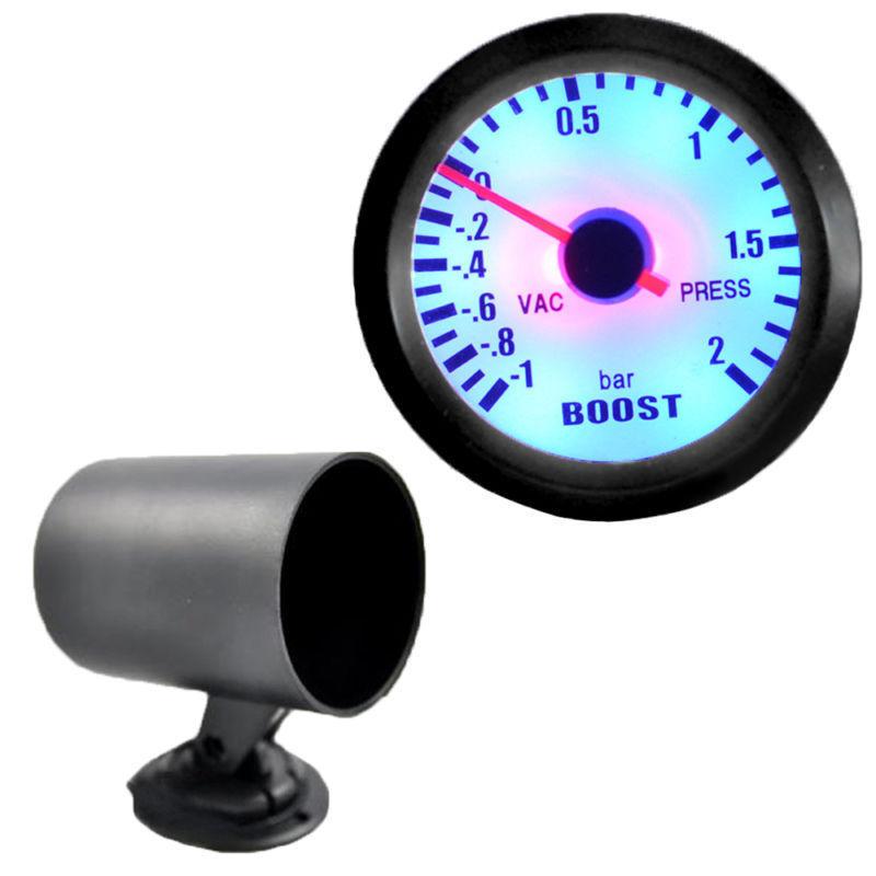 Гаджет  Bar Gauge 1~2 Bar Black 2 inch 52mm Boost Vacuum Gauge 52mm + Black Pod Car Styling Instruments Boost Vacuum Sensor In Stock None Автомобили и Мотоциклы