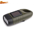 Top Hand Crank Solar High Powered Flashlight Rechargable Flashlights Torches Outdoor Lighting Waterproof Led Flashlight Lamp