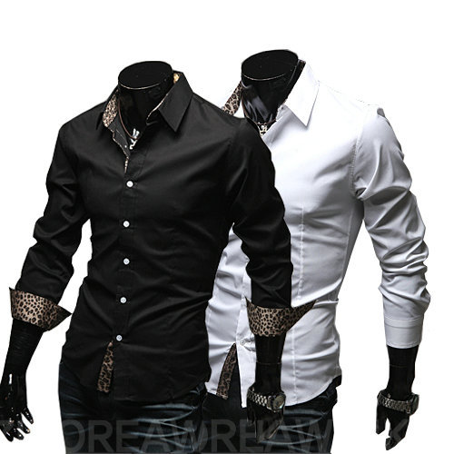 2013 new mens shirt fashion casual slim fit stylish