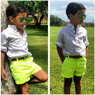 2015 Baby Boys Clothing Sets Europe America Shirts&Pants Two Piece Children's Causal Clothes c25 - SNOW LOVE store