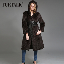 Russian rabbit fur outwear with stand collar winter fur coats for women(China (Mainland))