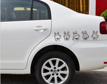 2 Size Car Styling Funny Rabbit Tuski Car Stickers Decals for Tesla Chevrolet Volkswagen Honda Hyundai