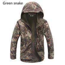 Brand Jacket V5.0 Military Tactical Men Jacket Lurker Shark Skin Soft Shell Waterproof Windproof Men windbreaker Jacket Coat(China (Mainland))