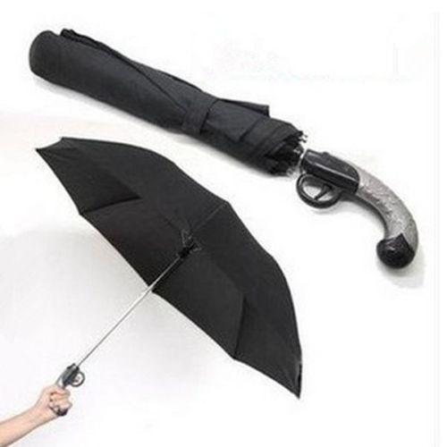 Classical Creative Anti-UV Short Western Gun Style 2 Folding Auto Open Umbrella(China (Mainland))
