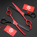 2 pcs of 6 left hand scissors straight shear thinning scissors 4 colour to choose pet