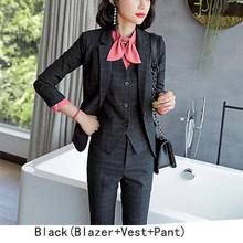 女性スーツ赤パンツスーツオフィスビジネスセット作業服ブレザー + ベスト + パンツ 3 枚セット(China)