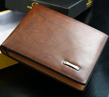 Free shipping2012 new stylish Men wallet+ genuine cow Leather +Pockets RFID Card Clutch Cente Bifold Purse ,dropshipping W-B119