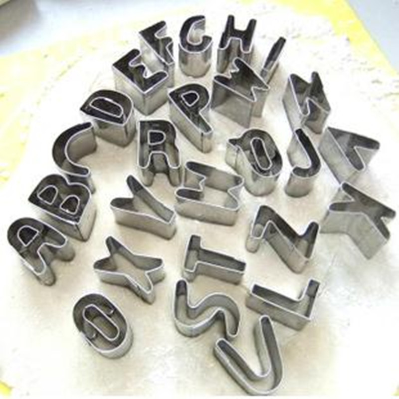 26 letter alphabet cookie cutters biscuit chocolate cake baking fondant soap mold tool soap mold cake
