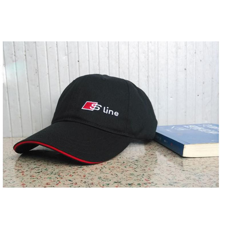 Sline Outdoor Cap Sports Motorcycle Racing Baseball Caps Car Visors Sun Hats For Audi A3 A4 B6 B8 A5 A6 C5 C6 Q5 Q7 B7 TT S line(China (Mainland))