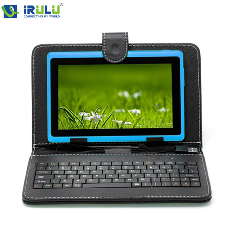 "iRULU eXpro 7"" Tablet PC 8GB Android 4.4 Tablet Quad Core 1024*600 HD Dual Cam 3G external WIFI Tablet w/Keyboard New Hottest(China (Mainland))"