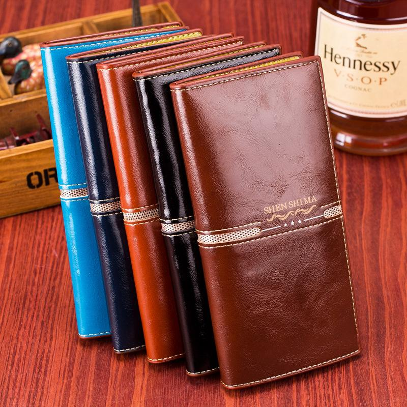 2015 Fashion Designer Second-layer Cowhide Leather Wallets Brand New Men Women Wallet Zipper Coin Purses Holders two fold<br><br>Aliexpress