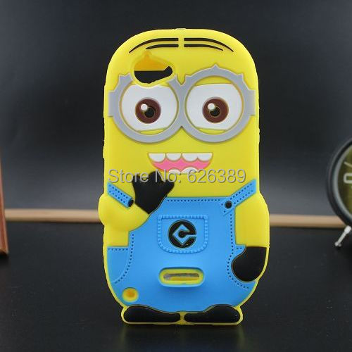 Cute Despicable Me Minions Silicone Cell Phone Back Cover Case For Sony Xperia L S36h C2105 C2014(China (Mainland))