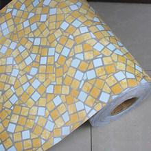 45 см X 5 м самоклеющиеся мозаичные виниловые наклейки на стену из ПВХ водонепроницаемые обои для ванной комнаты кухонный плакат Наклейки на ...(China)