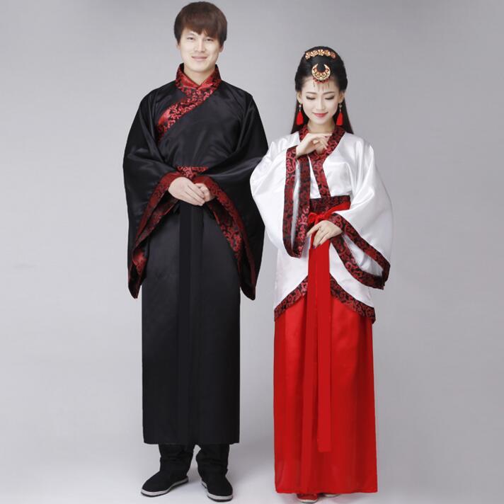 Black White Male Hanfu Cosplay Costume Chinese Style Clothing Hanfu ...
