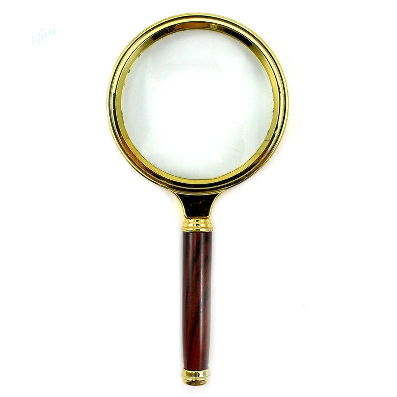80mm 10X Magnifier Magnifying Glass Loupe Reading Jewelry 6.5cm Handhold - isfang store