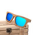 BOBO BIRD Brand Polar Unique Square Sunglasses Women Vintage Natural Bamboo Wood Sun Glasses Men Eyewear