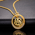 The new classic Allah pendant necklace wholesale 18K gold plated jewelry Allah Muslim zircon pendant free