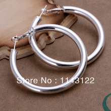 Five MM ear ring / Free shipping / 925 Sterling Silver Earrings / wholesale fashion jewelry /(China (Mainland))