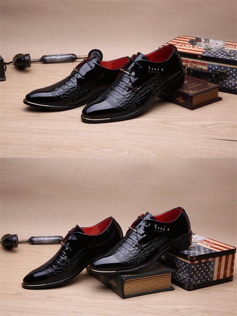 2017 Men Leather Shoes Formal Flat Shoes Genuine Leather Shoes Men Oxfords Business Outdoor Sapatos Lace Up Black Dress Shoes