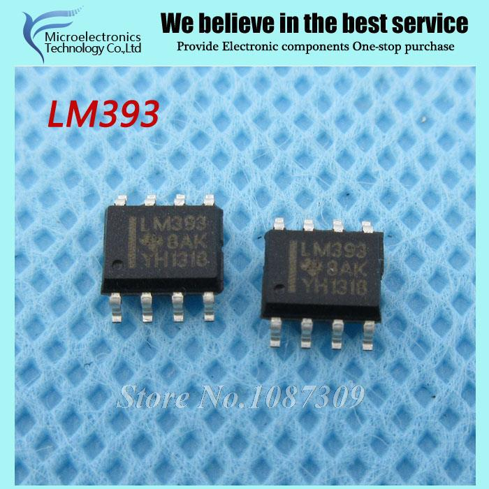50pcs free shipping LM393 LM393DR LM393D SOP-8 Comparators Dual Differential new original(China (Mainland))