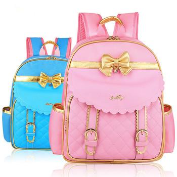 Barbie orthopedic/ergonomic elementary school bags books children backpack/portfolio for girls for grade 3-6 Mochila Infantil