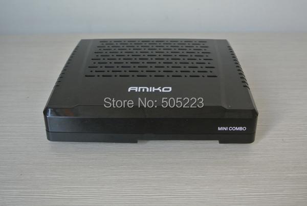 10 pc/lot dhl free Amiko mini combo Full HD compact size DVB S2 & T2 terrestrial / C set topbox & Media receiver(China (Mainland))