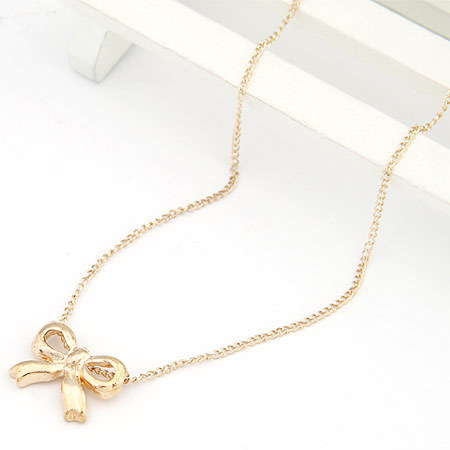 Korea star - Europe and the United States star pray / a short Bow Necklace  3pcs/lot(China (Mainland))