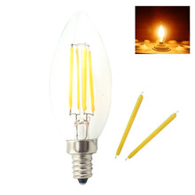 Buy 10x E14 220V Dimmable LED Filament Lamp Retro Edison Light Bulb Candle Lights COB Chip 4W 6W Chandelier Home Art Lighting for $14.52 in AliExpress store