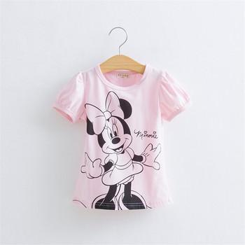 &32& One Piece Retail Baby Girls Cartoon Hello Kitty Tshirt Minnie Short-Sleeved Casual T-shirts For Kids Children's T-Shirts