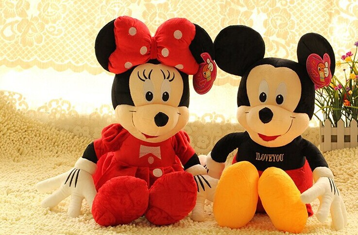 Valentines Gift ,85 cm Mickey and Minnie plush toy one pair love mouse doll , birthday gift b4317(China (Mainland))