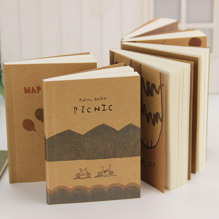 12.5*9cm Lovely Old Paiting Notebook Stationery Daily Notes Office School Supplies 1 pcs(China (Mainland))