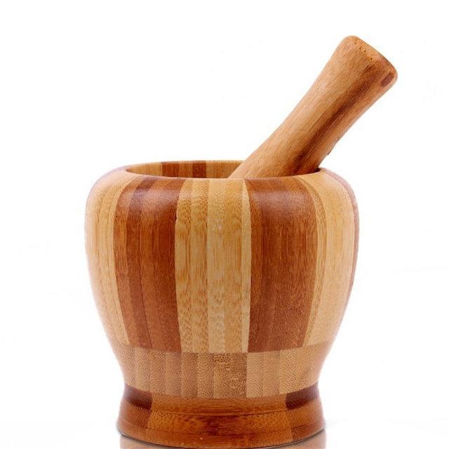 Moździerz drewniany