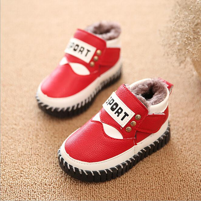 Toddler boots children's cotton winter soft bottom warm shoes for boys baby fashion leisure snow boots wholesale(China (Mainland))