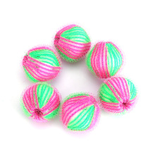6pcs/pack Magic Hair Removal Laundry Ball Clothes Personal Care Hair Ball Washing Machine Ball Cleaning Ball  JJ2130806(China (Mainland))