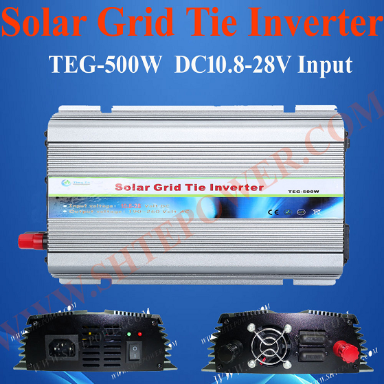 DC 10.8-30V to AC 100V 110V 120V 220V 230V 240V 500W Micro Grid Tie Inverter Solar(China (Mainland))