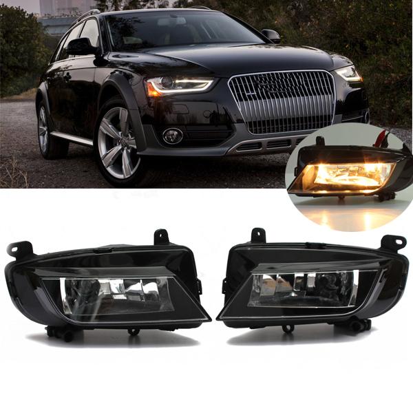 2015 New Pair LH &amp; RH Fog Light Foglight Lamp Assembly Driving Reflector for Audi A4 B9<br><br>Aliexpress