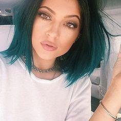Здесь можно купить  Ombre Dark Green Synthetic Lace Front Wig Natural Short Bob Black/Green Two Tone Heat Resistant Hair Wigs  Волосы и аксессуары