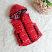 For 3-7T New 2016 Autumn Winter Boys Girls Vest Children Coat Bebe Warm Thicken Hoodies Outerwear Jackets Baby Waistcoat Kids
